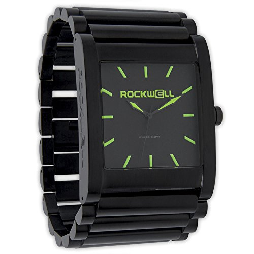 Rockwell Time Men's Rook Dial Watch, Black Case/Green