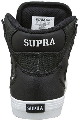 Zapatillas Altas de Adulto Herringbone Deporte White SupraVaider Unisex Noir Black UTp6p