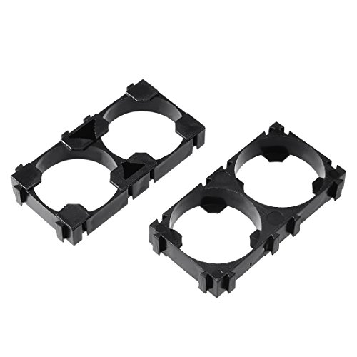 Lithium Ion Battery Holder - uxcell 50 Pcs 26650 Lithium Ion Cell Double Battery Holder Bracket for DIY Battery Pack
