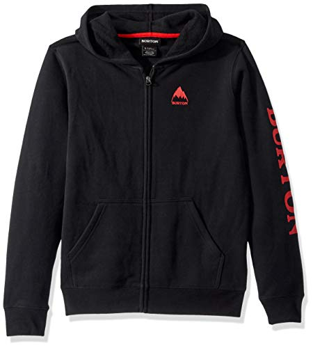 Burton Kids Elite Full Zip Hoodie, True Black W20, Large ()