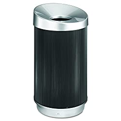 Safco Products 9799bl At-your-disposal Vertex Trash Can, 38-gallon, Black