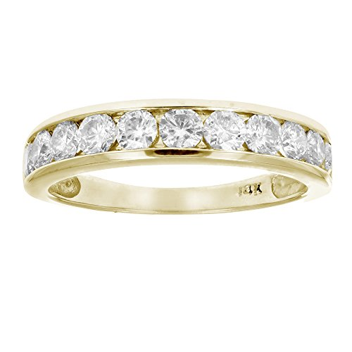 1 CT Classic Diamond Wedding Band in 14K Yellow Gold In Size 8