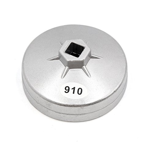 uxcell 910 Aluminum Alloy 95mm Inner Dia 15 Flute Oil Filter Cap Wrench Socket Removal Tool for Car by uxcell