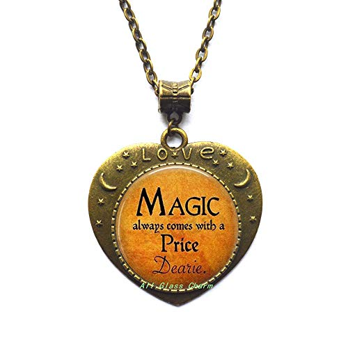 AllGlassCharm Halloween Costume Jewelry-Magic Always Comes with a Price Dearie-Quote-Magic -