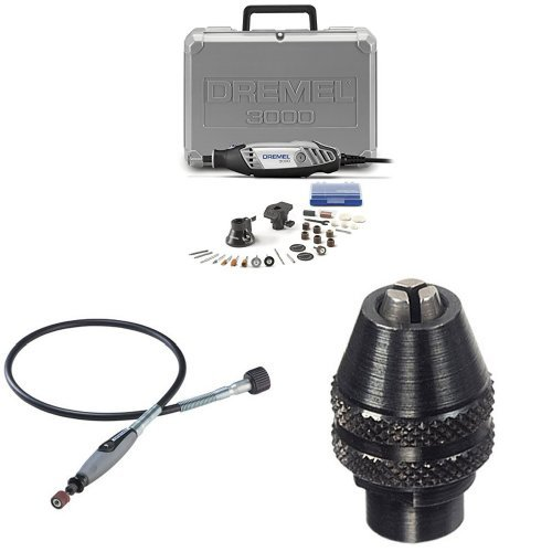 Dremel 3000-2/28 Rotary Tool Kit with Flex Shaft Attachment and MultiPro Keyless Chuck by Dremel
