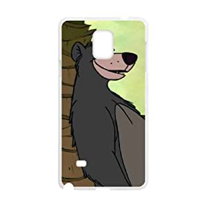 The Jungle Book Character Baloo Bear Samsung Galaxy Note 4 Cell Phone Case White SA9757637