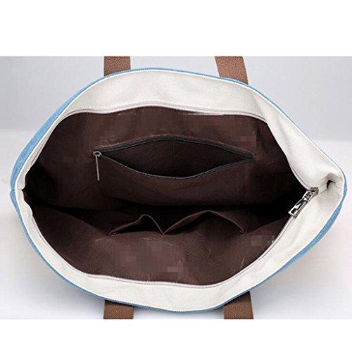 Sucastle sacchetti di svago sacchetto di modo del sacchetto di spalla di tela retro borsa bag Sucastle Colore:White and Blue Dimensione:38x35x16cm