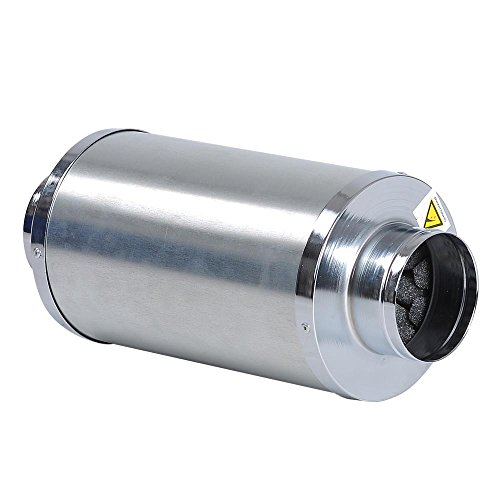 Yescom Hydroponics 4'' Inline Fan Blower Silencer Duct Muffler Noise Reducer for Grow Tent System by Yescom