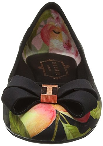 2 Baker Peach Black Textile Pumps Womens Immep Ted Blossom qEdAnTTz