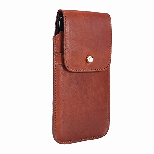 Limited Edition: Blacksmith-Labs Barrett 2017 Premium Leather Swivel Belt Clip Holster for Apple iPhone 7 Plus for use with No Case - Horween Essex Dark Cognac/Gold Belt Clip