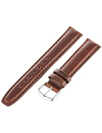 Hadley-Roma Men's MSM881RB-170 17mm Brown Oil-Tan Leather Watch Strap