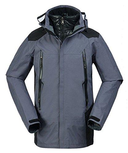 Grey Breathable Sport LANBAOSI Jacket Warm Down Skiing Parka Men's Waterproof zq5UF