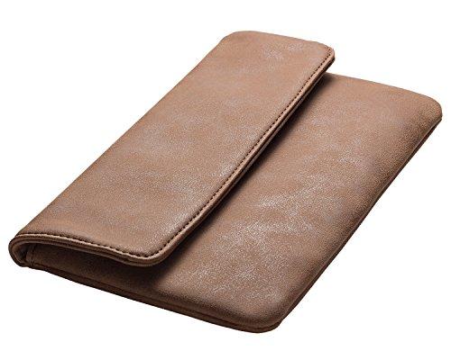 cecilia&bens - Cartera de mano de poliuretano para mujer One size marrón oscuro