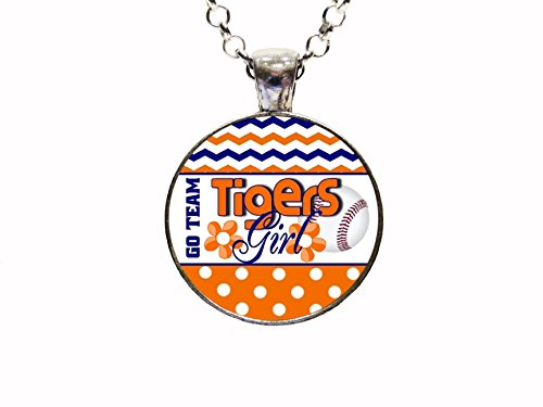 Tigers Tigers Basketball Pendant - Tigers Girl Pendant Necklace Or Key chain Football Baseball Basketball Hockey Soccer Rugby Team Sports