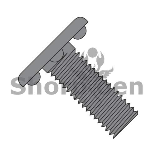 Weld Screw with Nibs Under The Head Fully Threaded Plain 5//16-18 x 1 1//4 BC-3120WB Weight 31.64 Lbs Box of 1000