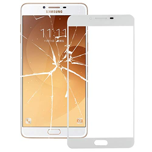 (CHENNAN Front Screen Outer Glass Lens for Galaxy C9 Pro / C900 (Black) Cell Phones Screen Outer Glass Lens (Color : White))