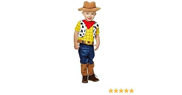 amscan- Toy Story Disfraz Infantil de Woddy Premium, Color Blanco ...