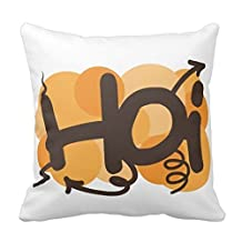 Soft Zippered Pillowcase Pillow case Cover 20 x 20 Inch (One Side) Cotton Pillow Protector, Best Pillow Cover 20161212
