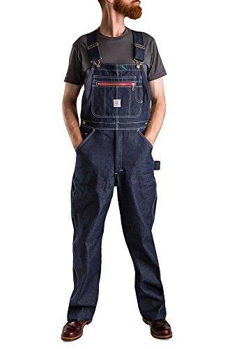 Pointer Brand Rigid Indigo Low Back Overall - Zipper Bib 36x30 Blue by Pointer