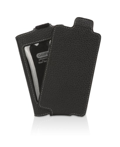 Griffin Elan Leather Case with Removable Leather Flip-Down Cover for iPod touch 2G, 3G (Black)