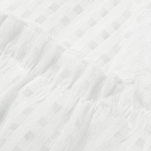 courtes Mode manches Dentelle Robe Bovake Robe Blanc Casual Mini Volants Femme soire SYXqT