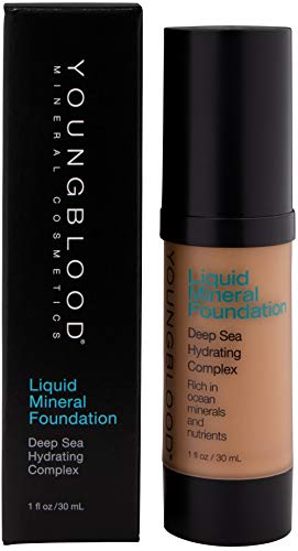 Youngblood Liquid Mineral Foundation, Suntan, 1 Ounce