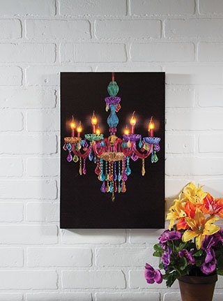 Lighted Bo Ho Chandelier Canvas