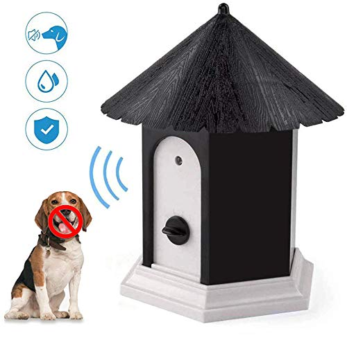 FANZO Anti Barking Device, Ultrasonic Bark Deterrents, Waterproof Bark Control Device for Outdoor, Up to 50 Feet Range
