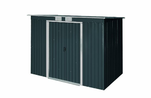 DuraMax 8x4 Pent Roof Metal Shed Kit with Skylights