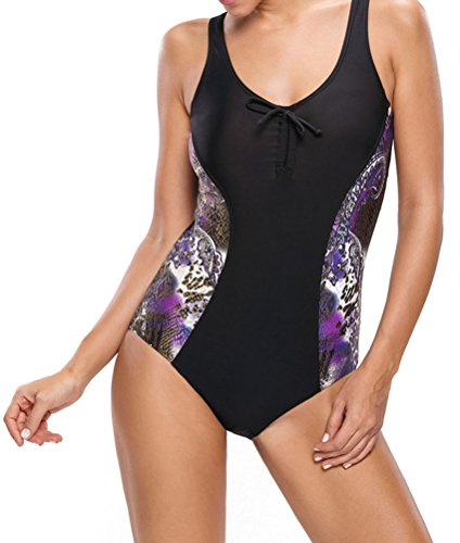PEGGYNCO Women's Sexy Tank Design Print Side One-piece (Party City Catalog Halloween)