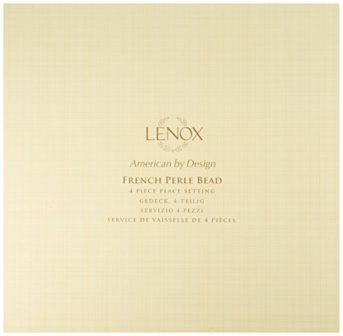 Lenox 4-Piece French Perle Bead Dinner Set, White by Lenox (Image #1)