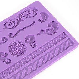 Kobwa(TM) Embossing Silicone Decoration Baking Tool Fondant Cake Mold Rose Flower Leaf(Random Color) With Kobwa's Keyring