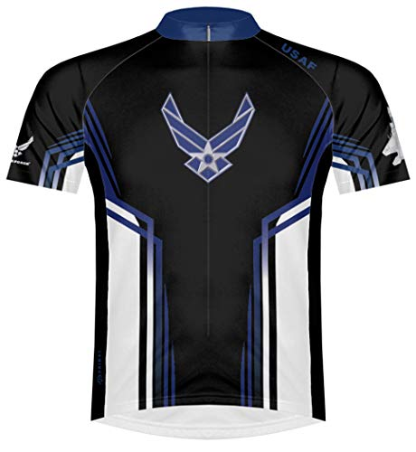 Primal Wear Air Force USAF Team Cycling Jersey Men's Short Sleeve Large