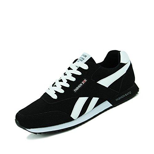 Hombre Deportes De Zapatos Forrest Gump Zapatillas de running blanco y negro negro y blanco Talla:44: Amazon.es: Deportes y aire libre