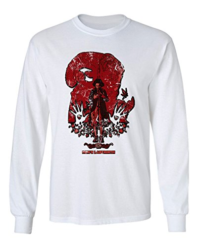 RIVEBELLA New Graphic Shirt Pans Labyrinth Novelty Tee Men's Long Sleeve T-Shirt (White, S)