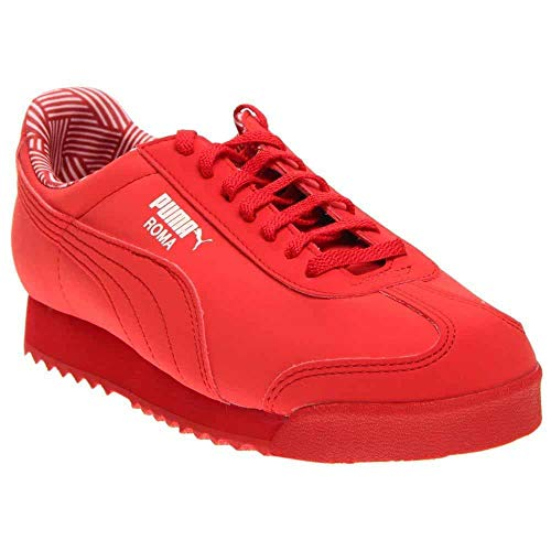 PUMA Kids Girl's Roma NM (Little Kid/Big Kid) High Risk Red/White Athletic - Nm Girl