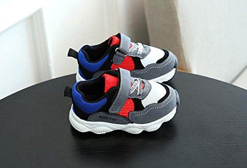TPulling Mode Herbst Und Frühling Kinder Mädchen Jungen Patchwork Sport Laufschuhe Sneaker Baby Tanzschuhe Schuhe Sportschuhe Rutschfeste Turnschuhe Lässige Schuhe Grau