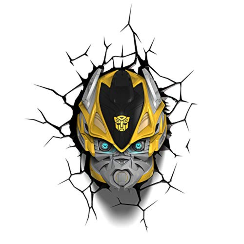 (Light Fixture Wall lamp - 3DLIGHTFX Transformers Bumble Bee Light (Color : A) )