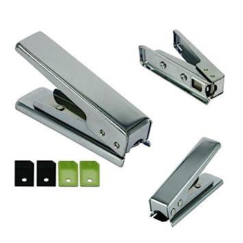Skque Micro tarjeta SIM cortador perforación + 4 adaptador para el iphone 4G 4S