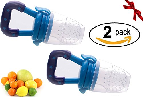 Sterify Fresh Food - Feeding - Soother - Teething - Pacifier - (2 Pack) (Blue) from Sterify