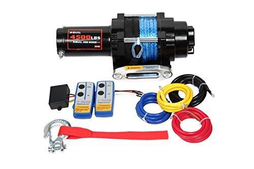 x-bull 12V 4500lbs cabrestante cuerda sintética ATV eléctrico Kits Off Road con mando a distancia inalámbrico soporte de...