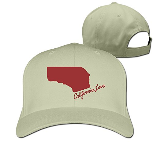 California Love Red Natural Adjustable Baseball Hats For Man Woman (Hat Last King Red)