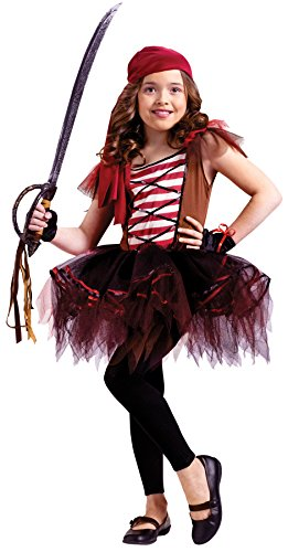 Girls Batarina Pirate Kids Child Fancy Dress Party Halloween Costume, L (12-14) -