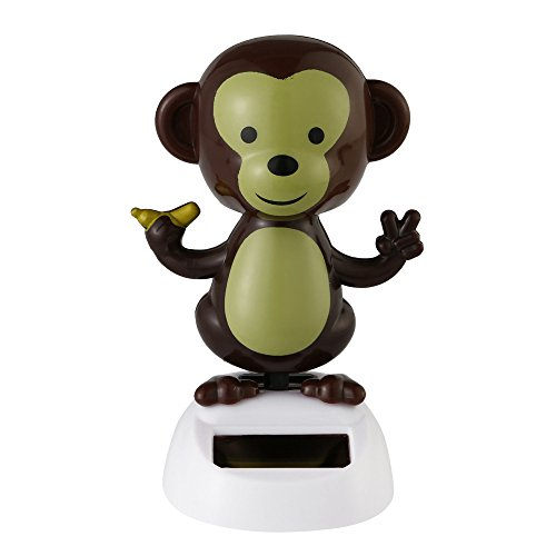 Bobble Head Kit - Juesi Solar Powered Dancing Toy, Swinging Animated Dancer Toy Car Decoration Bobble Head Toy for Kids (Monkey)