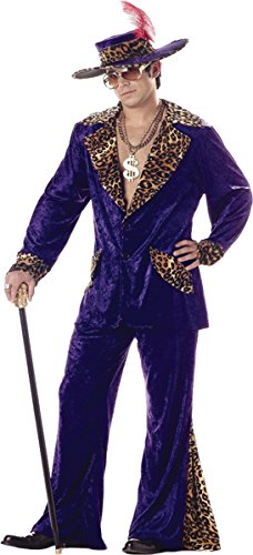 Morris Costumes Pimp Men Purple Lg 42-44 (Homemade Halloween Costumes For Men)