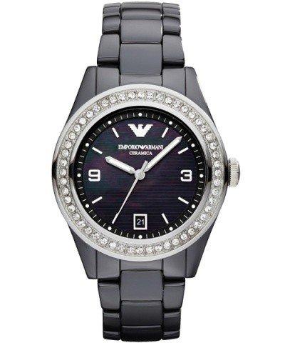 Emporio Armani Watch, Women's Black Ceramic Bracelet ()
