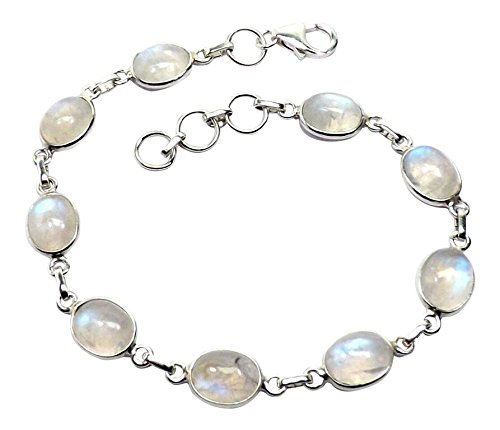 Sitara Collections SC10439 Sterling Silver Bracelet, Rainbow Moonstone
