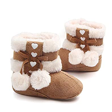hot sale online 3d9cb dfe79 Mishlee Baby Shoes, Baby Boots Soft Sole, Christmas Boots - Red Color,  Brown Color