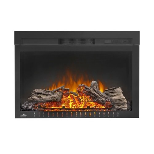 Napoleon Cinema NEFB27H-3A Built-in Electric Fireplace with logs Wolf Steel