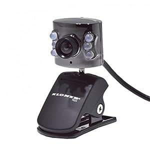 Kloner KWC0078 - CámaraWeb con micrófono y leds (para visión nocturna), 1.3 píxeles